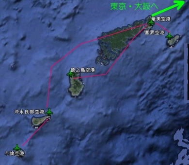 奄美群島の空港