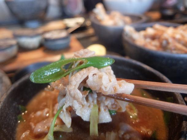 豚肉のつけ麺