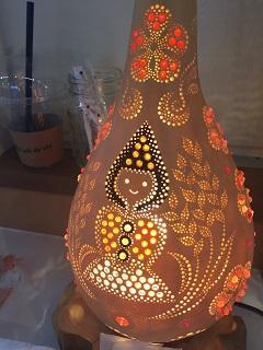 カフェ デ オラ ランプ