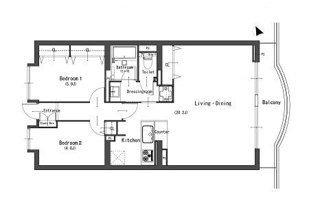 ダイアパレス平塚213号室 図面450