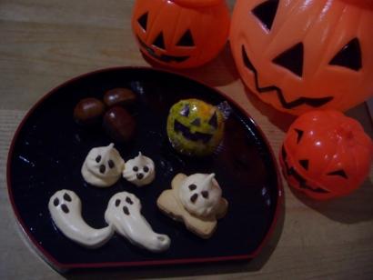 ハロウィン手作りおやつ(メレンゲ菓子)