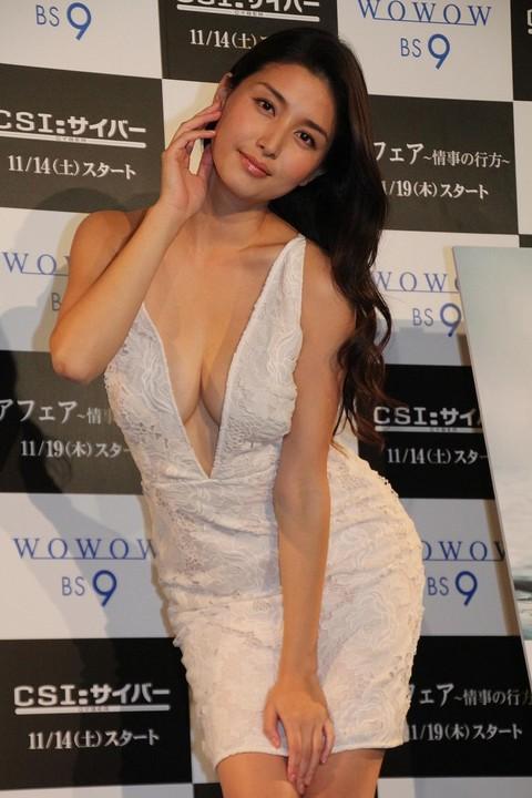 """橋本マナミが胸元ぱっくりドレス、既婚男性の""""落としテク""""熱弁"""