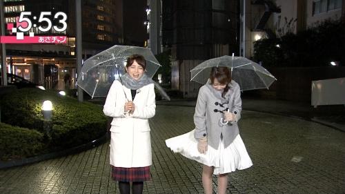 TBSの朝の番組で宇垣美里アナのスカートがめくれるハプニング