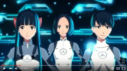 Perfumeが貞本義行デザインで3Dアニメに メルセデス・ベンツCMやアプリで踊る