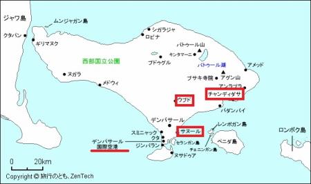 バリ旅行地図