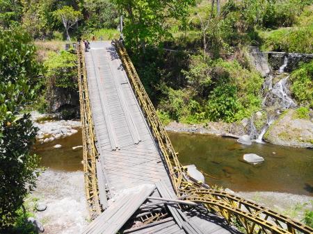 橋が落ちたところ