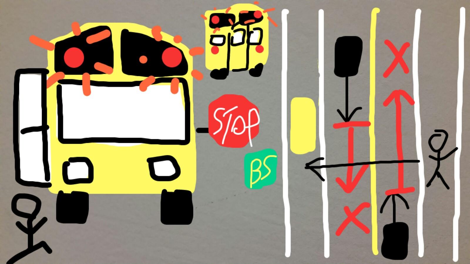 アメリカグアムスクールバス赤ランプ解説
