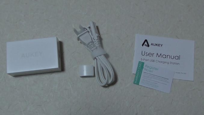 AukeyのマイクロUSBケーブルと5ポート内蔵充電器のレビュー4 14-50-14-713