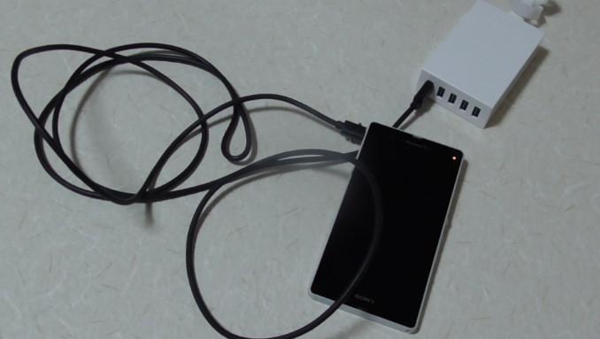 AukeyのマイクロUSBケーブルと5ポート内蔵充電器のレビュー-14 14-50-51-050