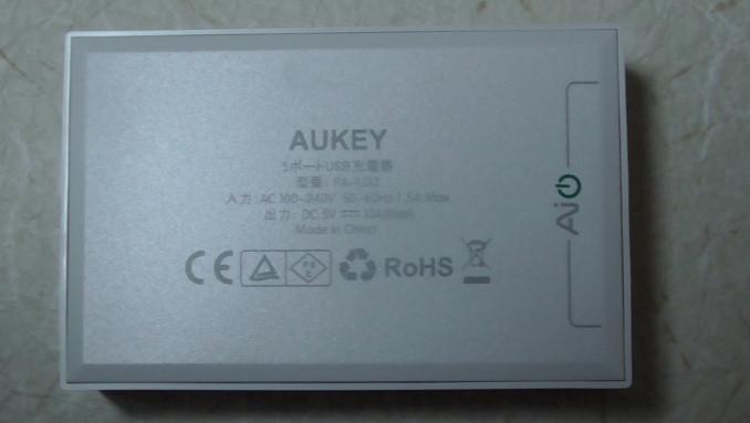 AukeyのマイクロUSBケーブルと5ポート内蔵充電器のレビュー50-37-911