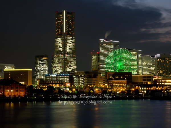 横浜港大桟橋からの夜景 F