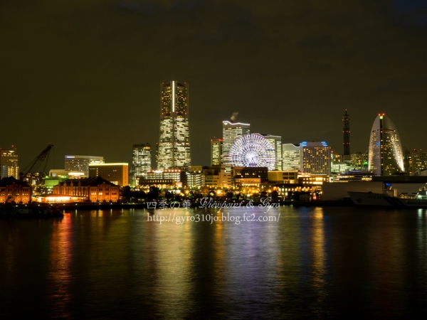 横浜港大桟橋からの夜景 H