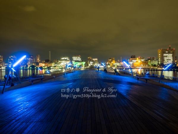 横浜港大桟橋からの夜景 A