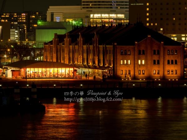 横浜港大桟橋からの夜景 C