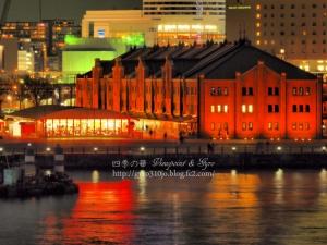 横浜港大桟橋からの夜景 D