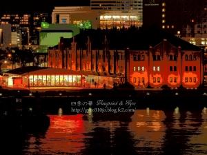 横浜港大桟橋からの夜景 E