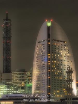 横浜港大桟橋からの夜景 J