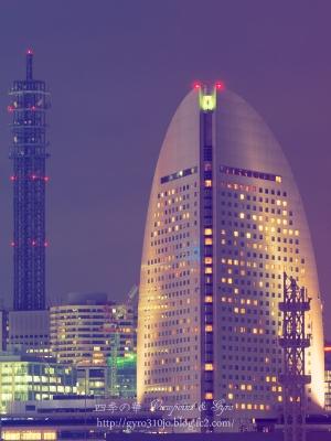 横浜港大桟橋からの夜景 L