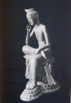 日本国宝 半跏思惟像 広隆寺「宝冠弥勒」