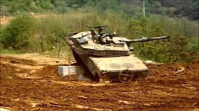 K1 K1戦車 段差