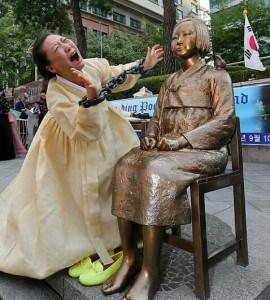 日本大使館前慰安婦像1