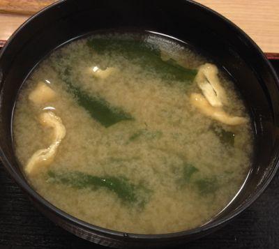 豚と茄子の辛味噌炒め定食 味噌汁