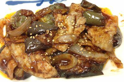 豚と茄子の辛味噌炒め