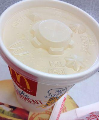 マクドナルドの昼マクド オレンジジュース