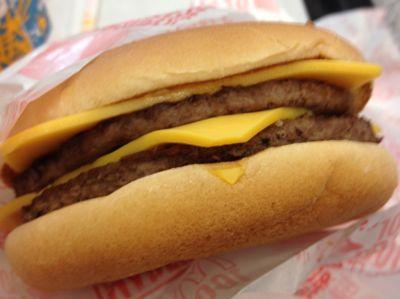 マクドナルドの昼マクド ダブルチーズバーガー