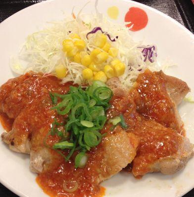 鶏のチリソース定食 メイン