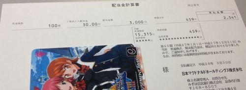 2702 日本マクドナルド 配当金