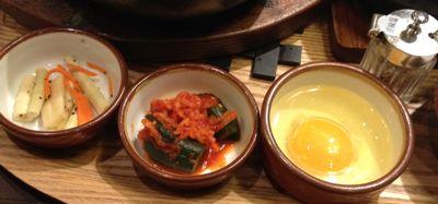 ハーフ石焼ビビンバ&ミニ参鶏湯セット 付け合わせ