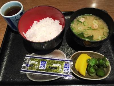 160128汐屋新大阪駅店朝定食220円
