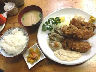 160202小田保(おだやす)カキミックス定食1650円