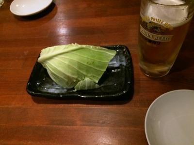 160203てらきん浜松田町店お通しキャベツ