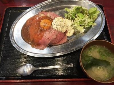 160208どぎゃん立売堀店ローストビーフ丼(並)800円