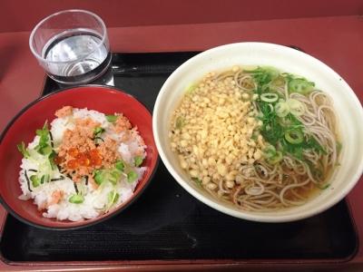 160215潮屋梅田店日替わり鮭イクラ丼セット500円