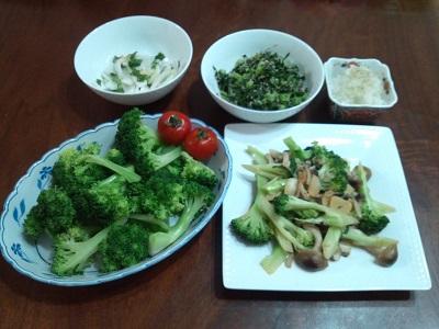 ブロッコリーと大根で料理