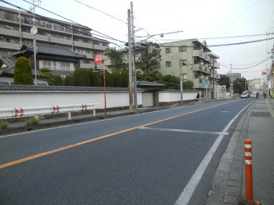ゴール:薬園台駅近くの成田街道