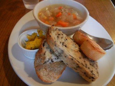 インカインチトーストとスープ @900円