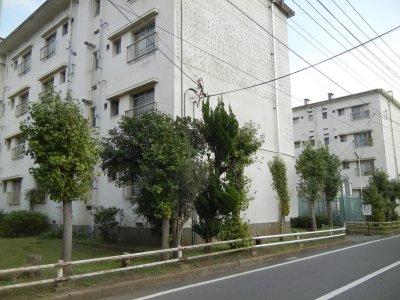 教育隊・兵舎・炊事場・浴場・集会所跡(県営二宮住宅)