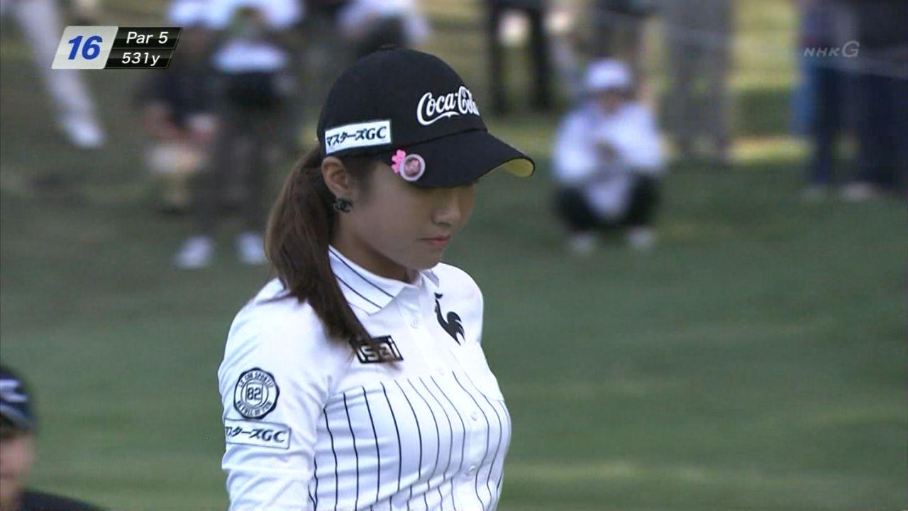 巨乳の女子プロゴルファー、イ・ボミの着衣おっぱい