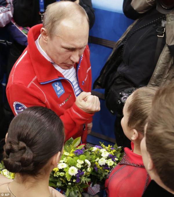 プーチンと対面するユリア・リプニツカヤ