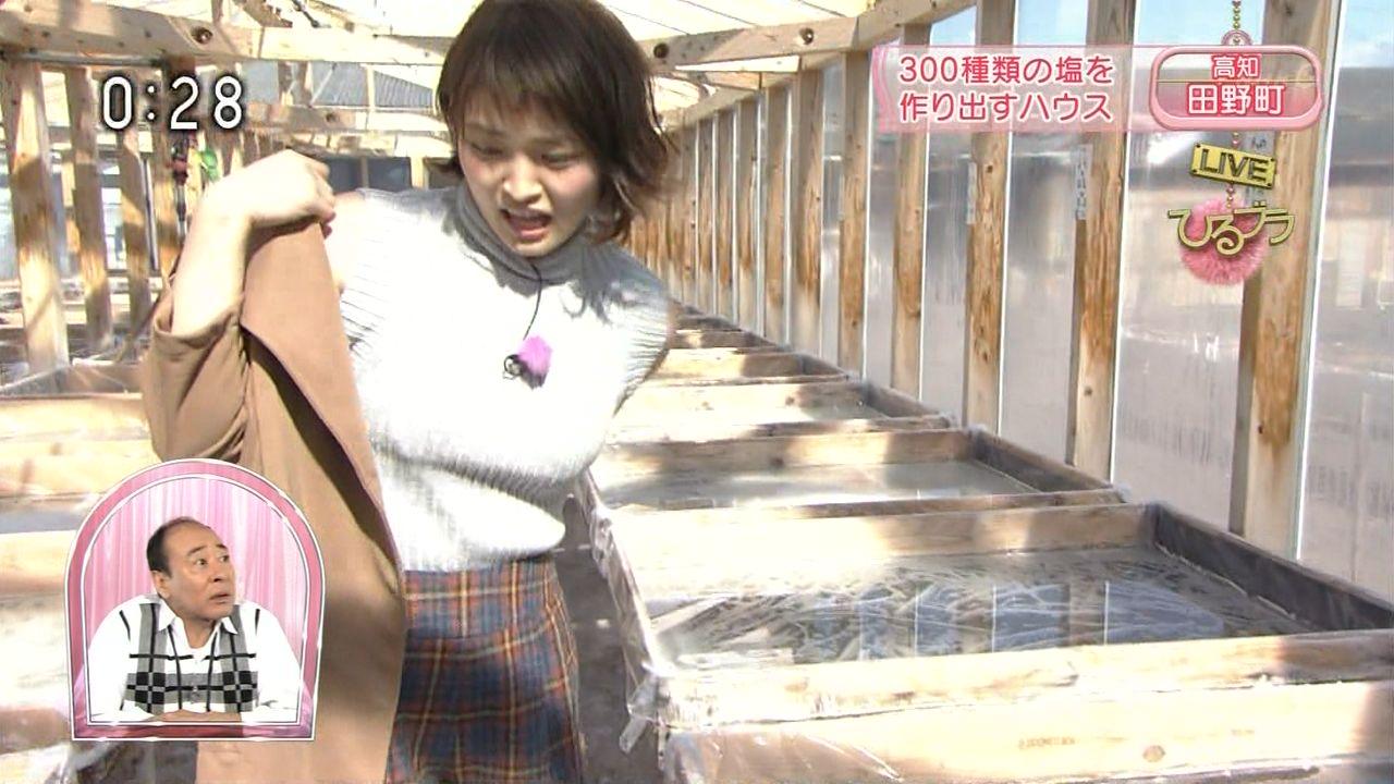 NHK「ひるブラ」に出演した岡本玲の着衣巨乳