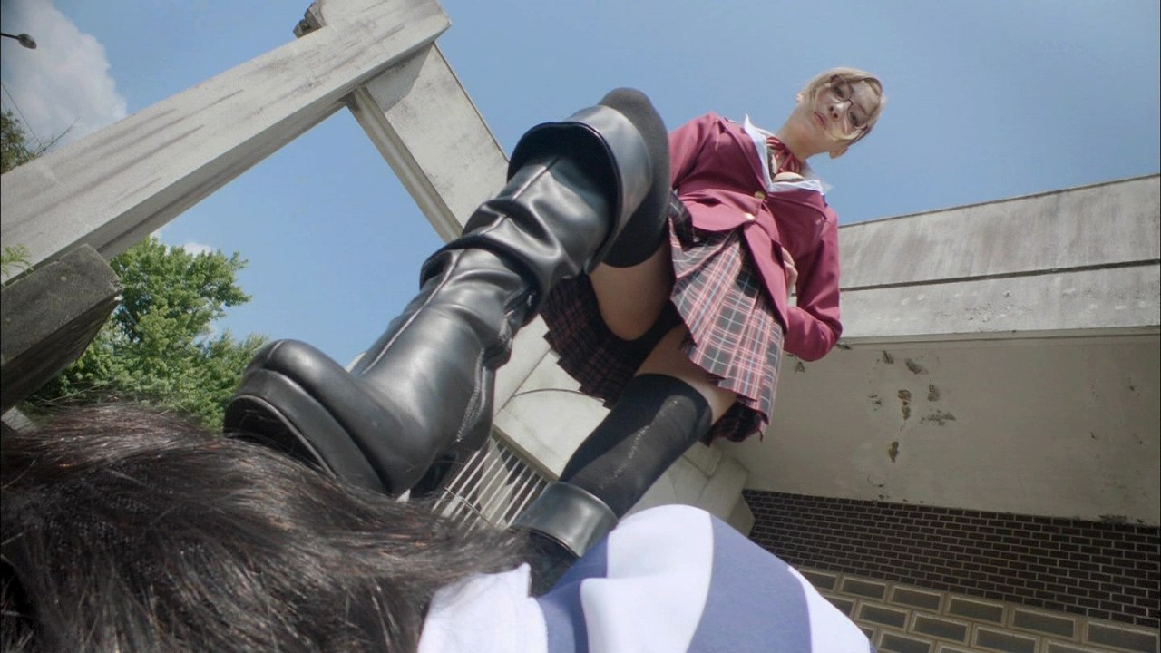 ドラマ「監獄学園 プリズンスクール」白木芽衣子役・護あさなの丸見えエロパンツ