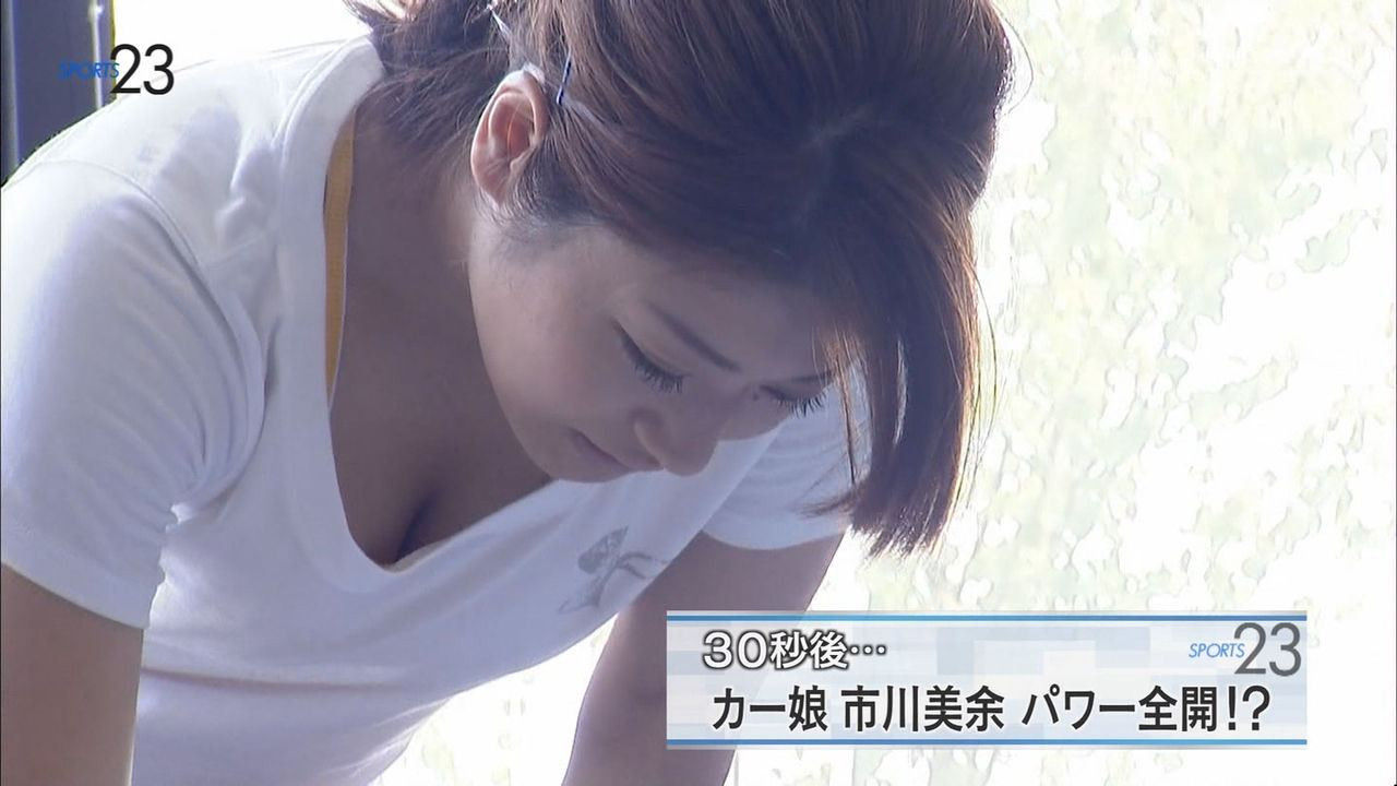 ウェイトトレーニングをするカーリング・市川美余選手の着衣おっぱい