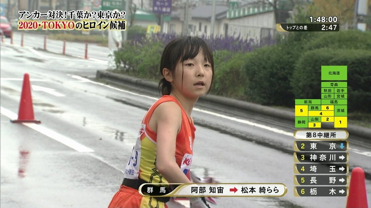 女子駅伝に出場した高校生、松本綺らら