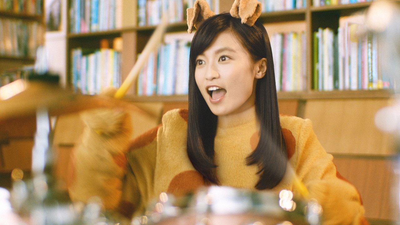 「チケットキャンプ」のCMで着ぐるみを着た小島瑠璃子