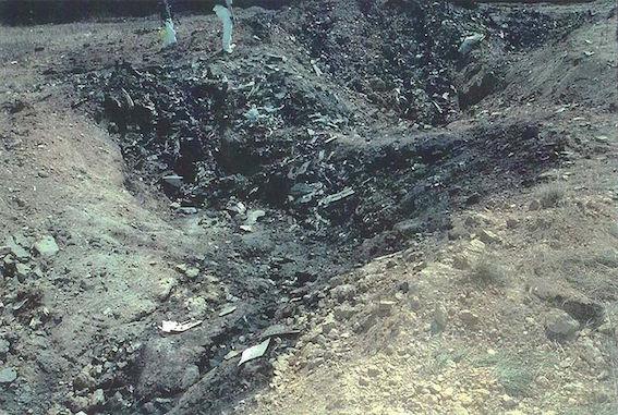 ユナイテッド航空93便墜落地点