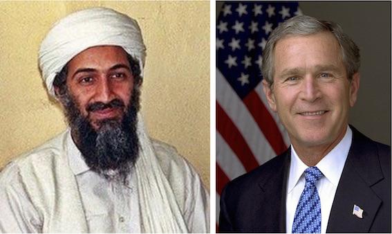 ウサマビン・ラディンとジョージ・ブッシュ 写真